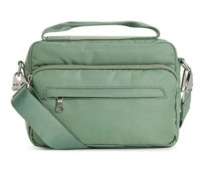 "Nylon Camera Bag, $70 AUD Approx by [Arket](https://www.arket.com/en/women/bags-accessories/product.nylon-camera-bag-green.0506392014.html|target=""_blank""