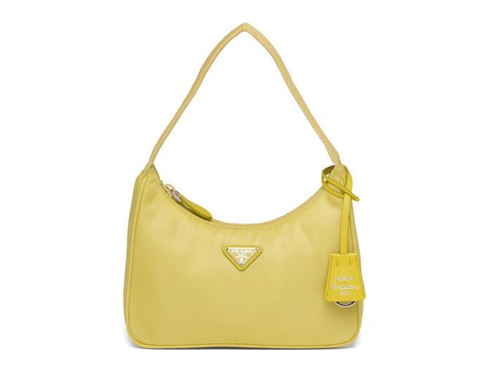 "Re-Edition 2000 Nylon Mini Bag, $1,030 by [Prada](https://www.prada.com/au/en/women/bags/products.re-edition_2000_nylon_mini_bag.1NE515_2DH0_F068X.html|target=""_blank""|rel=""nofollow"")."