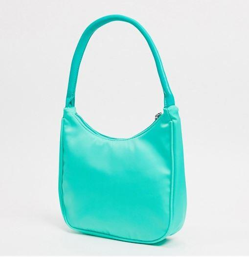 "90s Shoulder Bag by Glamorous, $31 at [ASOS](https://www.asos.com/au/glamorous/glamorous-exclusive-90s-shoulder-bag-in-sage-green-nylon/prd/20229019?colourwayid=60019322&SearchQuery=nylon%20bag|target=""_blank""