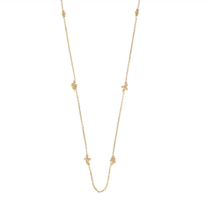 """Fine Papilla Necklace, $420 at [Sarah & Sebastian](https://www.sarahandsebastian.com/collections/necklaces/products/fine-papilla-necklace-yellow-gold