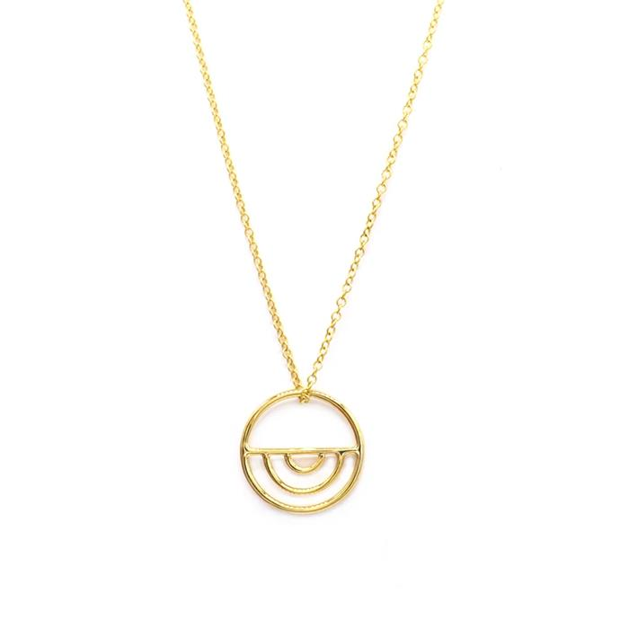 """'Indigo' Necklace, $380 at [Natalie Marie Jewellery](https://www.nataliemariejewellery.com/collections/necklaces/products/indigo-necklace