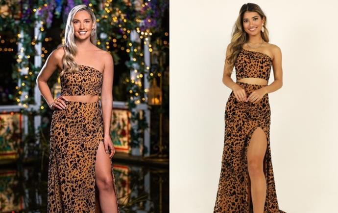 "Bec wears the 'Midnight Dancer' Dress, $39 by [Showpo](https://www.showpo.com/midnight-dancer-dress-in-leopard-print.html|target=""_blank""