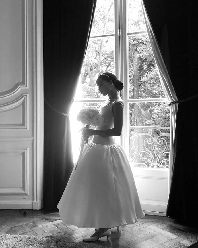 "Zoë Kravitz wearing a custom Alexander Wang wedding dress in 2019.<br><br>  *Image via [@marcseliger](https://www.instagram.com/markseliger/|target=""_blank""|rel=""nofollow"")*"