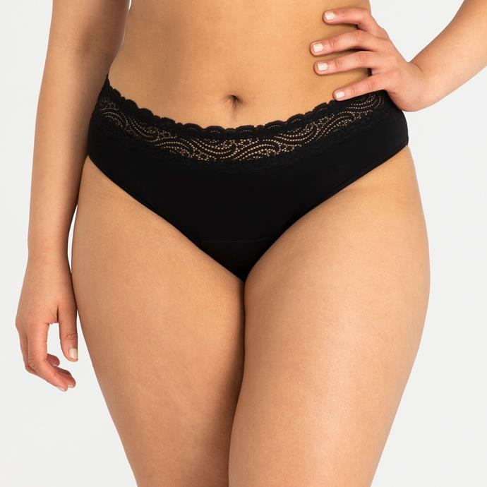 "Sensual Hi-Waist Bikini for Heavy-Overnight by Modibodi, $35 at [Modibodi](https://fave.co/2RBkQap|target=""_blank""
