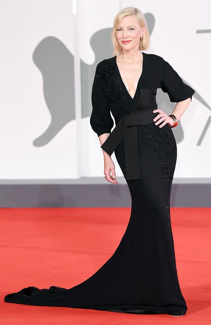 Cate Blanchett in Armani Privé.