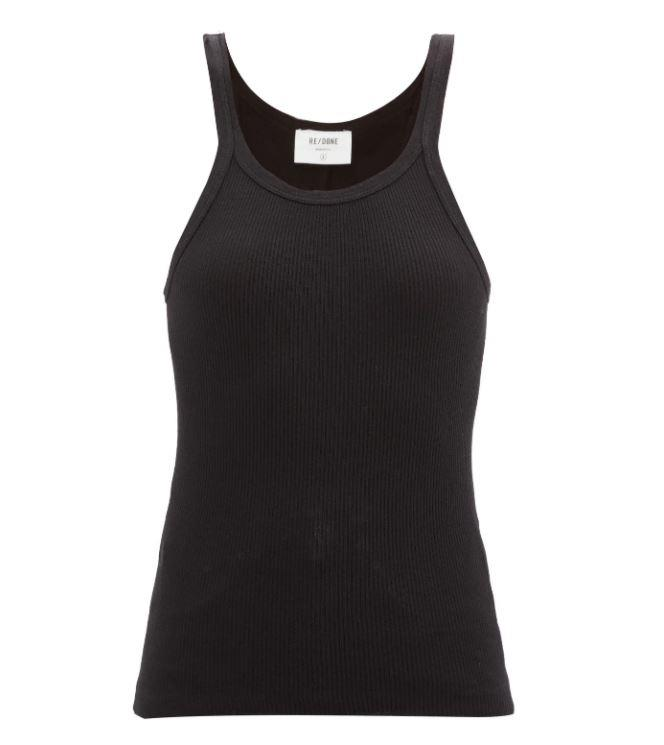 "Ribbed Cotton Cami Top by Re/Done, $119 at [MatchesFashion](https://www.matchesfashion.com/au/products/Re-Done-Originals-Ribbed-cotton-cami-top-1256796|target=""_blank""