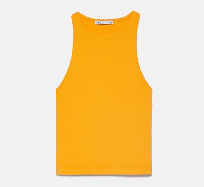 "Halterneck T-shirt, $17.95 by [Zara](https://www.zara.com/au/en/halterneck-t-shirt-p04174158.html?v1=54835789&v2=1277486|target=""_blank""|rel=""nofollow"")."