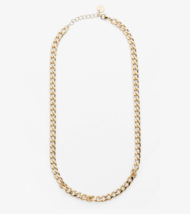 "Felicia Necklace, $149 by [Reliquia](https://reliquiacollective.com/collections/textured-chains/products/felicia-necklace|target=""_blank""