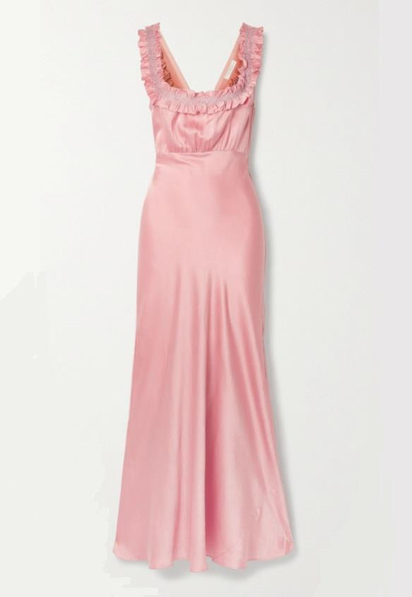 "Dress by DÔEN, $809 at [Net-A-Porter](https://www.net-a-porter.com/en-au/shop/product/doen/nola-embroidered-silk-satin-maxi-dress/1243705|target=""_blank""