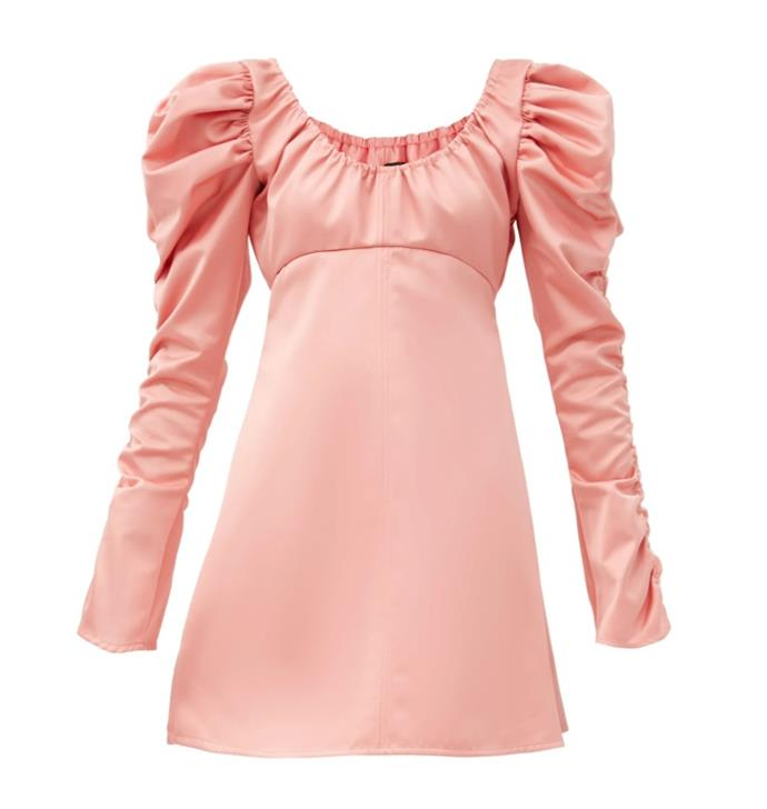 "Dress by Ellery, $1,434 at [MatchesFashion](https://www.matchesfashion.com/au/products/Ellery-Amiata-off-the-shoulder-satin-mini-dress-1373267|target=""_blank""