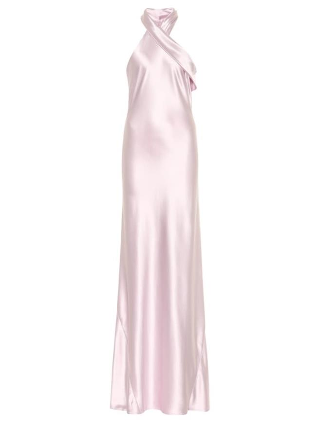 "Dress by Galvan, $1,483 at [My Theresa](https://www.mytheresa.com/en-au/galvan-pandora-silk-satin-dress-1110317.html?gclid=CjwKCAjwzIH7BRAbEiwAoDxxTixgLivjXVSpdDVeuHC42F50rLFARXj2gJ1dqquMNLpY0K8acKfa_RoC83gQAvD_BwE&utm_source=sea_pla&utm_medium=google&utm_campaign=google_sea&ef_id=CjwKCAjwzIH7BRAbEiwAoDxxTixgLivjXVSpdDVeuHC42F50rLFARXj2gJ1dqquMNLpY0K8acKfa_RoC83gQAvD_BwE:G:s?pr=lptest2|target=""_blank""