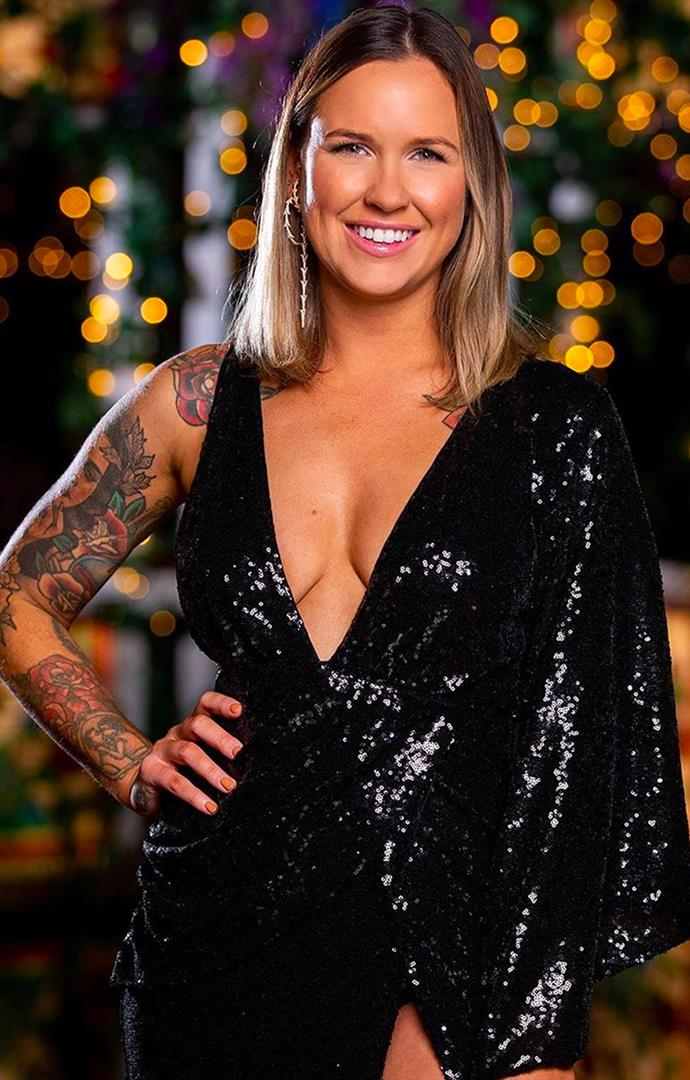 """**8. Roxi Kenny from Locky Gilbert's season of *The Bachelor* Australia.** <br><br> Cocktail parties showed us a side of [Roxi](https://www.elle.com.au/culture/bachelor-australia-2020-areeba-roxi-23937
