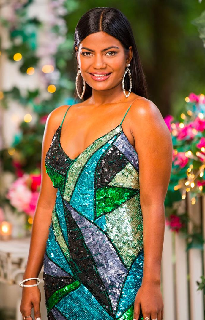 """**4. Areeba Emmanuel from Locky Gilbert's season of *The Bachelor* Australia** <br><br> The beginning of Locky Gilbert's season of the show saw Areeba take top 'villain' spot. But did she deserve to be labelled as such? We're inclined to say no. <br><br> While yes, she did make her fair share of outright hurtful comments toward the other women in the mansion, it was her immense self-confidence that was unfairly used against her in post-production. And after maturely handling [Zoe-Clare's racist comments](https://www.elle.com.au/culture/bachelor-australia-2020-premiere-memes-23873