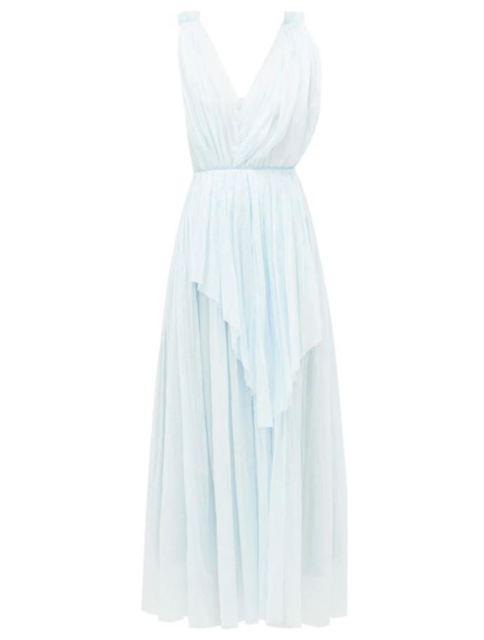 "Dress by Vika Gazinkaya, $806 at [MatchesFashion](https://www.matchesfashion.com/au/products/Vika-Gazinskaya-Crinkle-pleated-ruched-cotton-batiste-dress-1349989|target=""_blank""