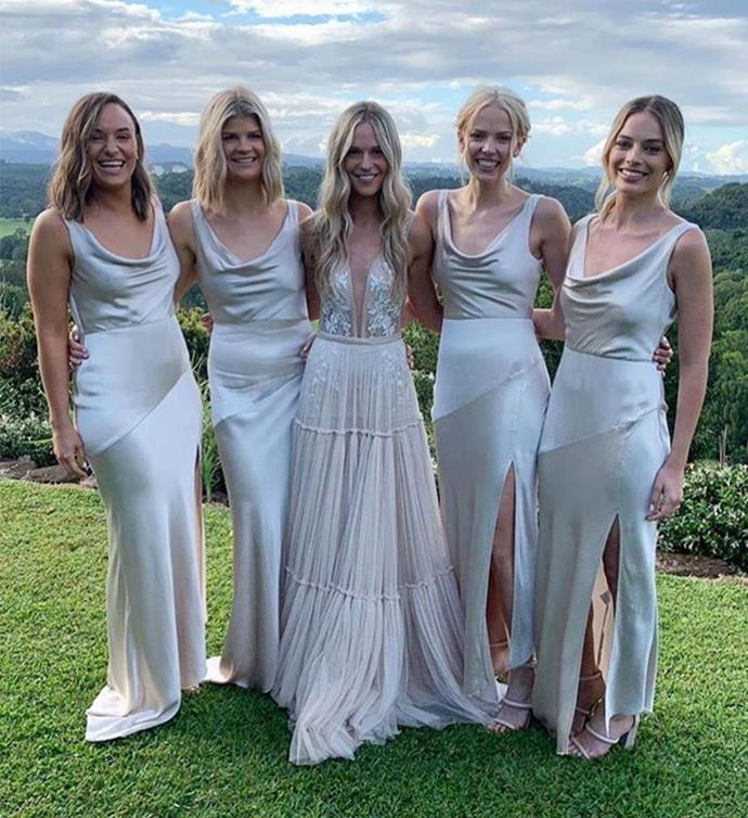 **Virgo:** <br><br> **Bridesmaid Personality** <br><br> You can be very shy at times, Virgo, but it doesn't take long for you to get comfortable around people you get along with. Try not to overthink details about the wedding too much, like how much your bridesmaid dress or flights are going to cost, and instead remind yourself to enjoy one of the biggest days of your friend's life. <br><br> **Bridesmaid Style** <br><br> You're a softie at heart, Virgo, and that's reflected in your personal style. An elegant, neutral dress in a flattering fabric like Margot Robbie's, has *you* written all over it. Not to mention it leaves little need for accessories which means less for you to worry about. <br><br>