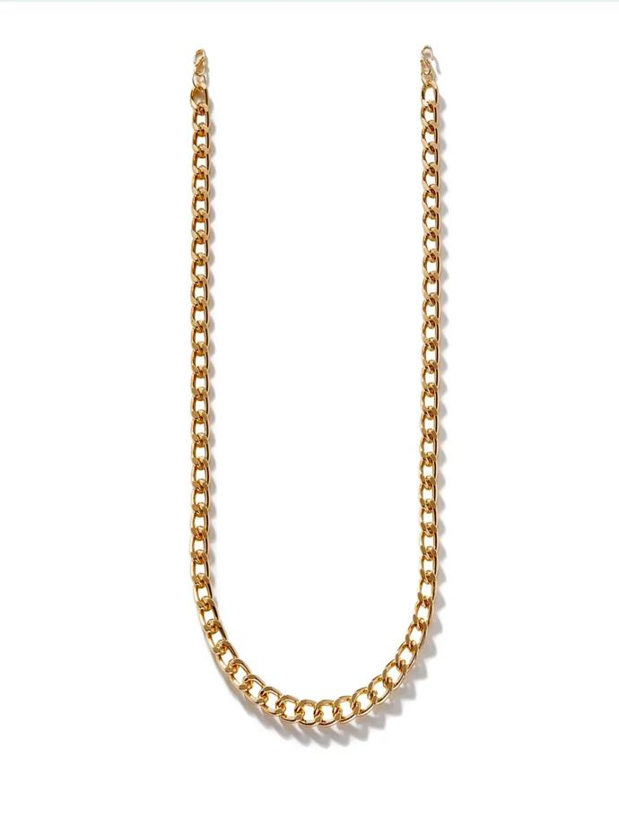 """Detachable Gold 10mm Cuban Link Chain, $45.37 at [Second Wind](https://shopsecondwind.com/collections/chains/products/10mm-gold-cuban-link-chain