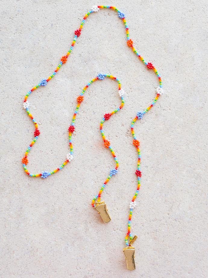 "Emily Levine X Éliou Flower Power Rainbow, $96.19 at [Éliou](https://www.eliou-eliou.com/collections/accessories/products/emily-levine-x-eliou-flower-power-rainbow|target=""_blank""|rel=""nofollow"")."