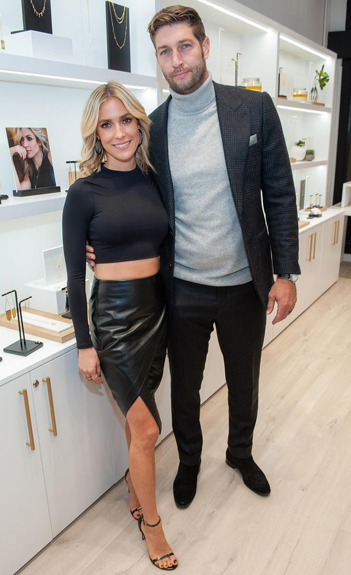 **Kristin Cavallari and Jay Cutler** <br> <br> *The Hills* star Cavallari and NFL player Cutler started dating in 2010, and were engaged by April 2011. Three months later they broke off their engagement. A few months after that, Cavallari tweeted that the wedding was back on and they tied the knot in June 2013. They have two sons together, Camden and Jax, and a daughter named Saylor. Unfortunately, they announced their split in 2020, after seven years of marriage.