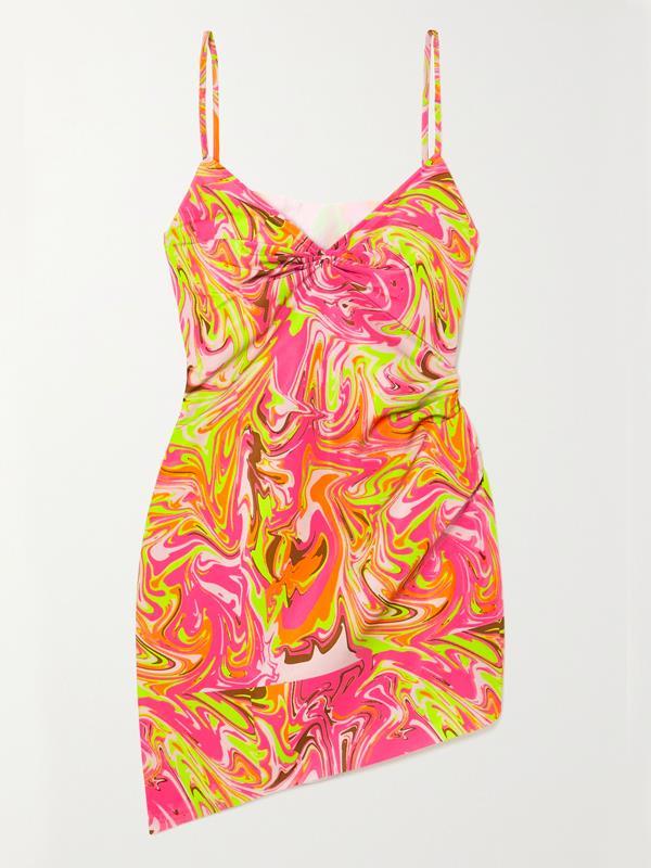 "'[Party Girl Asymmetric Printed Crepe Mini Dress](https://www.net-a-porter.com/en-au/shop/product/maisie-wilen/party-girl-asymmetric-printed-crepe-mini-dress/1305277?gclsrc=aw.ds&cm_mmc=Google-ProductSearch-AU--c-_-NAP_EN_AU_PLA-_-NAP+-+AU+-+GS+-+Designer+-+Class_Clothing%C2%A0-+Type_Dresses%C2%A0-%C2%A0High%C2%A0-%C2%A0BT--Dresses+-+Mini-_-__aud-314946096719:pla-888836844147_APAC&gclid=Cj0KCQjwnqH7BRDdARIsACTSAduK9mwj_XUqpdsa0Bu0a51AmOzNkTVxVm9emvLGI69384EcfGSQGmQaAjqLEALw_wcB&gclsrc=aw.ds|target=""_blank""|rel=""nofollow"")' by Maisie Wilen, $1055.65 at [Net-A-Porter](https://www.net-a-porter.com/en-au/|target=""_blank""|rel=""nofollow"")."