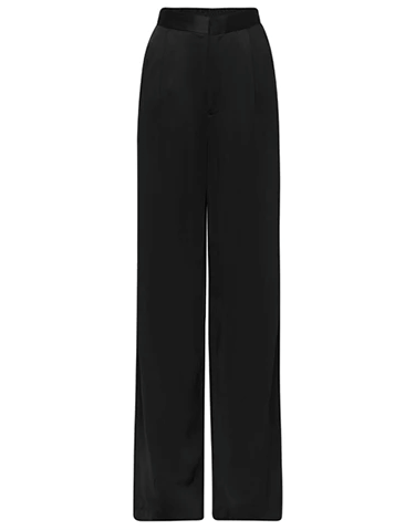 "The Wide Leg Satin Trouser, $540 by [Matteau](https://matteau-store.com/collections/apparel/products/the-wide-leg-satin-trouser?variant=31271810891854|target=""_blank""