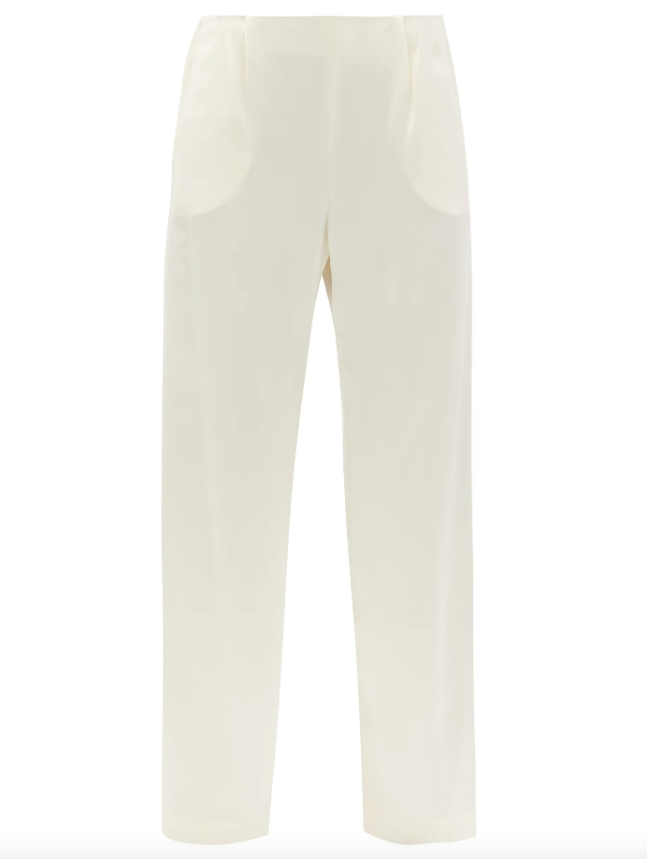 "Calypso Silk Wide-Leg Trousers by LA Collection, $844 at [MatchesFashion](https://www.matchesfashion.com/au/products/La-Collection-Calypso-high-rise-silk-wide-leg-trousers-1372004|target=""_blank""