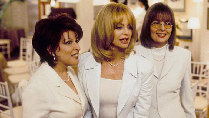 """**The one when you're with your girlfriends and just need to laugh:** ***The First Wives Club***<br><br>  Sick of feeling sad? Get out of gloomsville with a good movie, good wine and good friends. This classic comedy ticks all the boxes and is perfect for a girls' night in. <br><br> *Watch it [here](https://www.netflix.com/au/title/506464