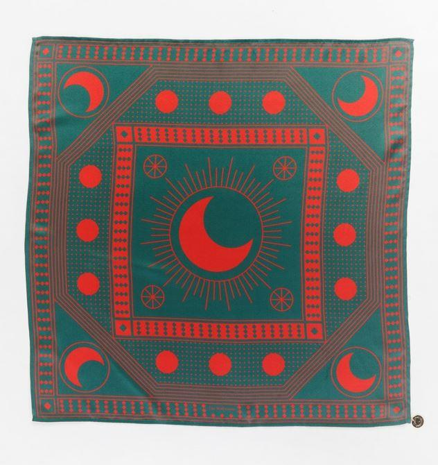 "Zodiac Silk Scarf by The Wolf Gang, $129 at [The Iconic](https://www.theiconic.com.au/zodiac-silk-scarf-772187.html|target=""_blank""