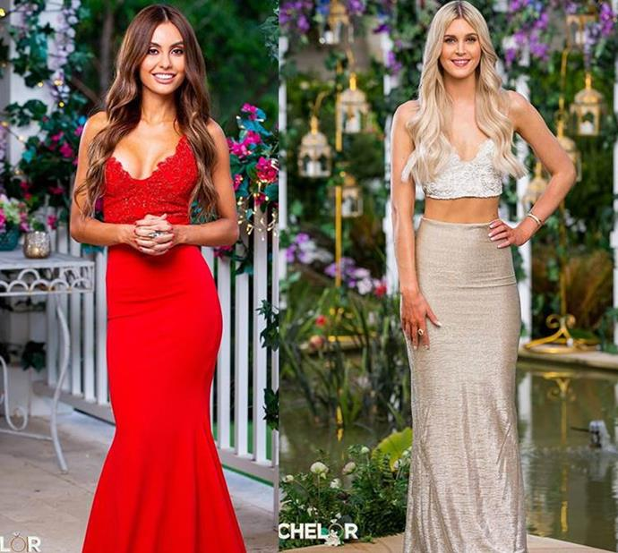 Kristina and Steph both wear the 'Pascale Yuu' by Gemeli Power. Kristina wears the 'red,' Steph wears the 'silver tink' in two-piece form.