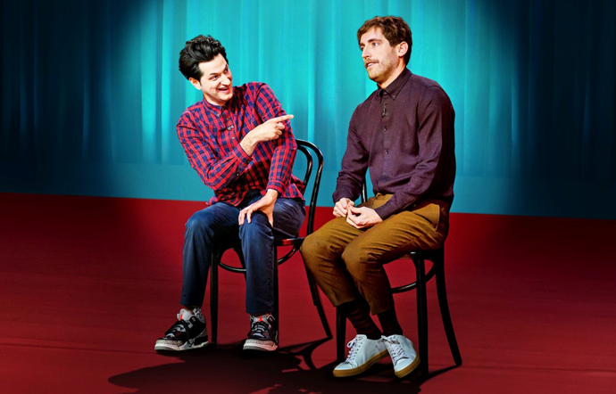 ***Middleditch & Schwartz*** **by Thomas Middleditch and Ben Schwartz**<br><br>  Hilarious comedy duo (and best friends) Thomas Middleditch and Ben Schwartz take their improv talents to the stage in this seriously funny skit show.  <br><br> Working off the audience and bouncing off of each other, their shows are constantly sold-out for good reason. Tune in with people you're not afraid to snort-laugh in front of.