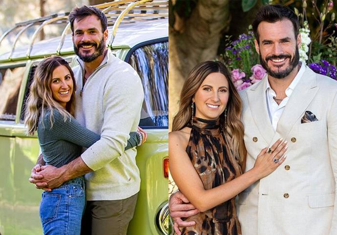 """**DATING**: Irena Srbinovska and Locky Gilbert from *The Bachelor* Season 8 <br><br>  Srbinovska and Gilbert announced their love for one another in the [heartwarming finale](https://www.elle.com.au/culture/bachelor-australia-2020-finale-memes-24056) of *The Bachelor's* eighth season. <br><br> And while their heart-warming declaration only aired at the tail end of 2020, the pair [have confirmed](https://www.instagram.com/p/CFhHS8XnhJy/