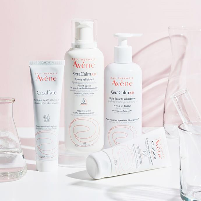 "**Avène** <br><br> A cult French pharmacy brand, Avéne's speciality is sensitive skin, but its products are worth exploring for all skin types. The star ingredient in all of their products, Avène Thermal Spring Water is used to treat people with skin conditions ranging from sensitivity, to intolerant, atopic and psoriasis. If you want to get into skincare without paying a fortune, this is a brand worth trying. <br><br> ***Hero product:*** Avène Thermal Spring Water, 25.95 at [Adore Beauty](http://cms.live.elle.wn.bauer-media.net.au/cms/umbraco/#content|target=""_blank""