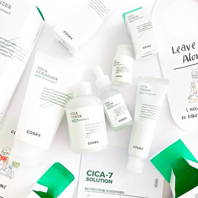 "**Cosrx** <br><br> Cosrx is another Korean beauty brand that is taking the world by storm. Best known for their Acne Pimple Master Patches, which literally make blemishes disappear overnight, the brand also includes a range of skincare products that focus on using minimal ingredients—and you won't pay more than $35 for a skincare item, whether it's a serum, mask or night cream.  <br><br> ***Hero product:*** Acne Pimple Master Patch, $7, at [Nudie Glow](https://nudieglow.com/collections/cosrx/products/cosrx-acne-pimple-master-patch?utm_source=Google&utm_medium=adwords&utm_campaign=COSRX%20search%2Fvisit%20site&utm_term=COSRX%20product%20pimple%20patch&utm_content=Ad1&gclid=CjwKCAjwh7H7BRBBEiwAPXjadvgEfJGg3U-MF_x9bXWPV3qxTeEIJHdao9YLOQ7u9H0J5KscQ_0w9RoCflUQAvD_BwE|target=""_blank""