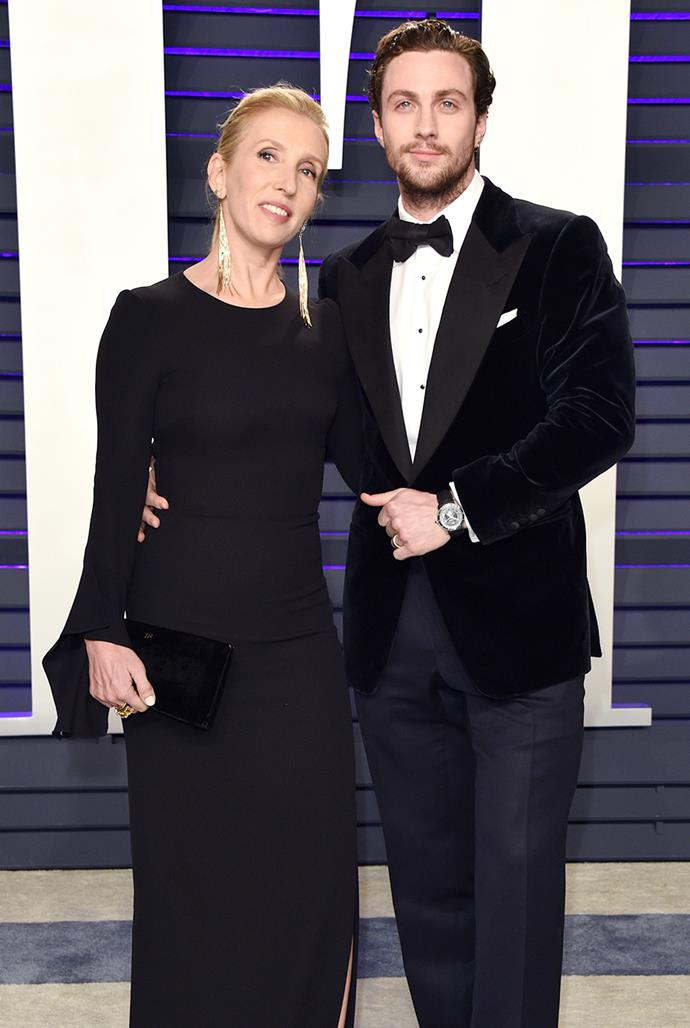 **Sam, 53, and Aaron Taylor-Johnson, 30** <br> Age difference: 23 years