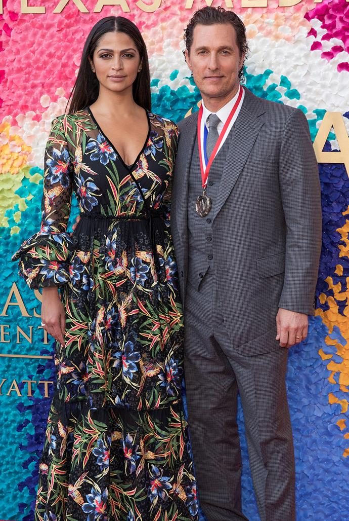 **Matthew McConaughey, 50, and Camila Alves, 38** <br> Age Difference: 13 years