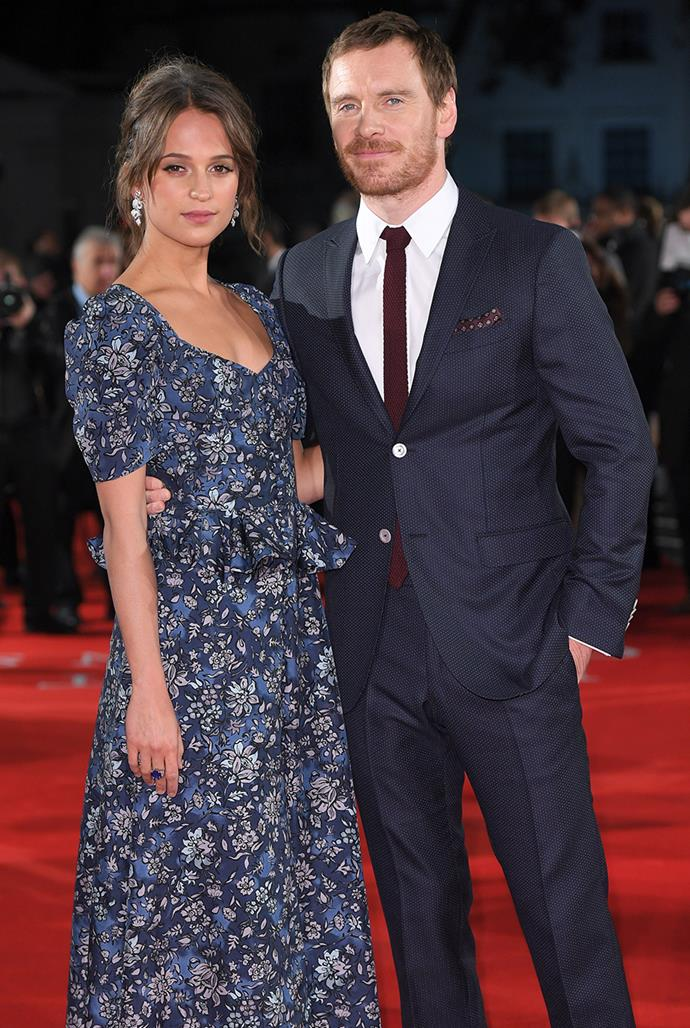 **Michael Fassbender, 44, and Alicia Vikander, 32** <br> Age difference: 12 years