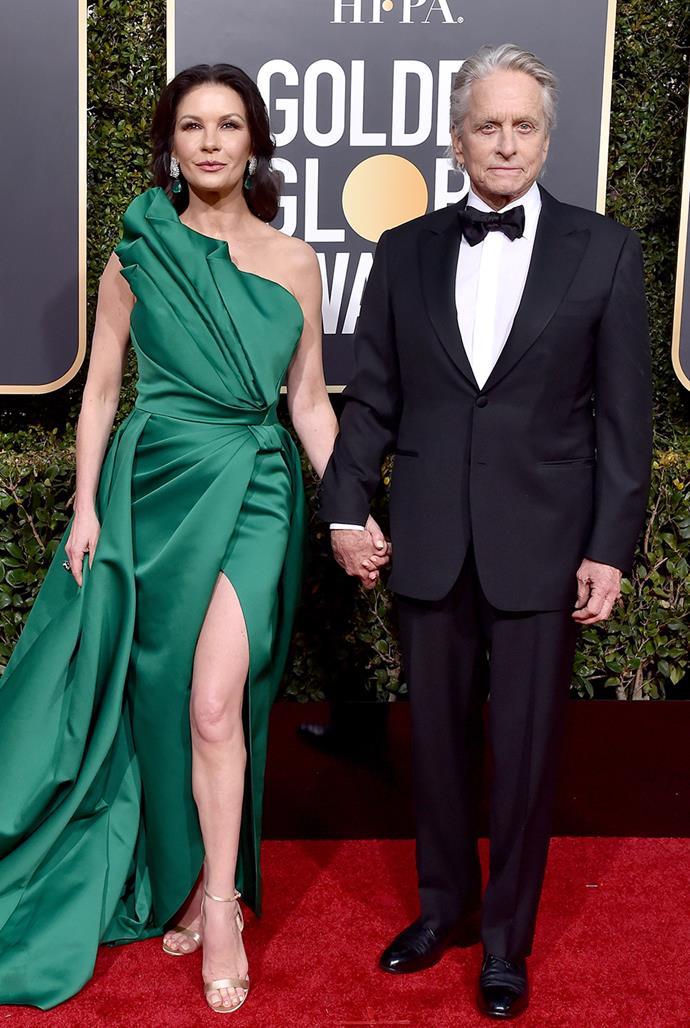 **Catherine Zeta-Jones, 51, and Michael Douglas, 76** <br> Age Difference: 35 years
