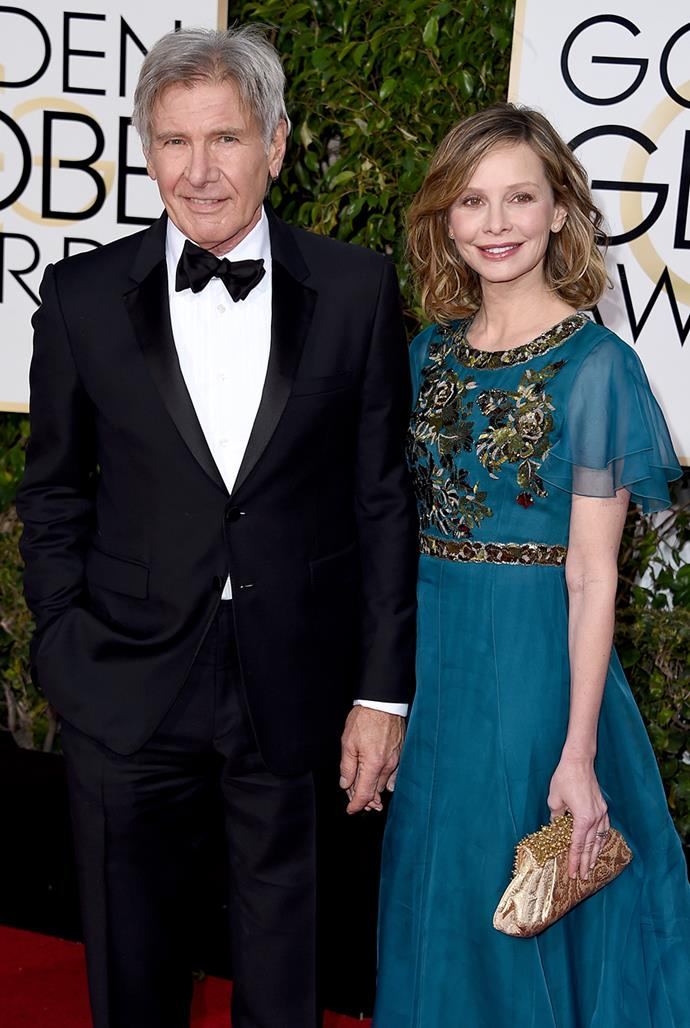 **Harrison Ford, 78, and Calista Flockhart, 56** <br> Age difference: 22 years