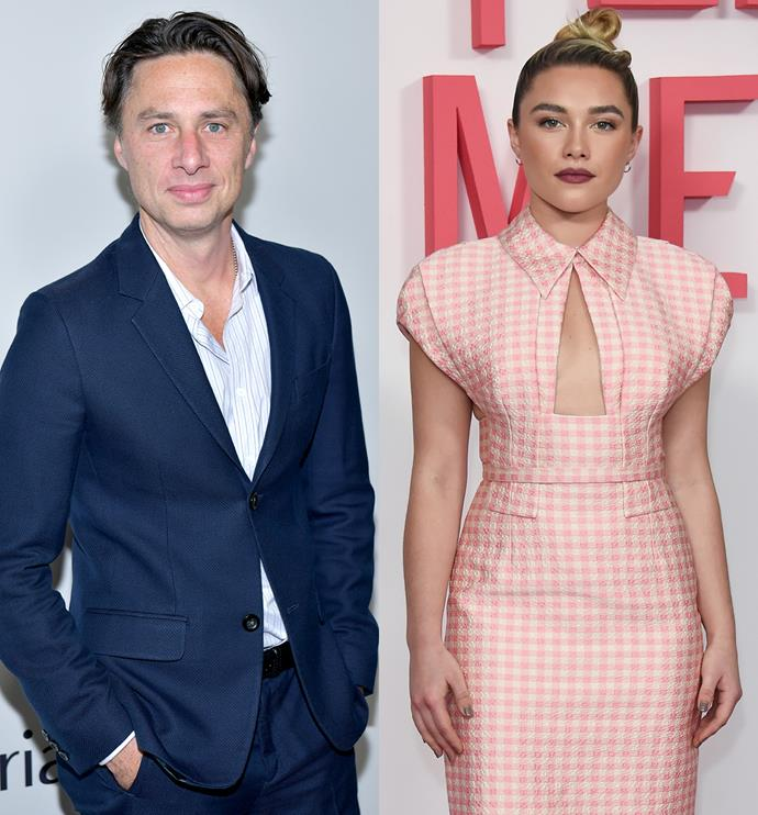 **Zach Braff, 45, and Florence Pugh, 24** <br> Age Difference: 21 years