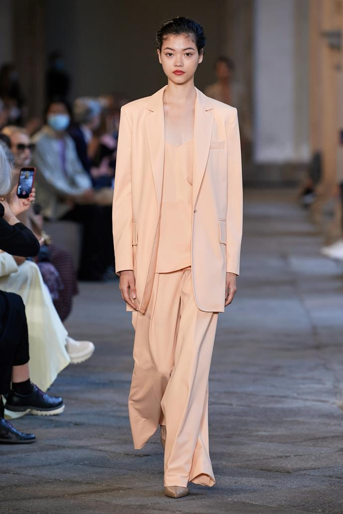 **Max Mara** <br><br> In their latest collection, Max Mara puts a relaxed twist on their refined neutral sets. With muted colours and elements of sportswear, it was the type of tailoring that will set the mood for 2021.