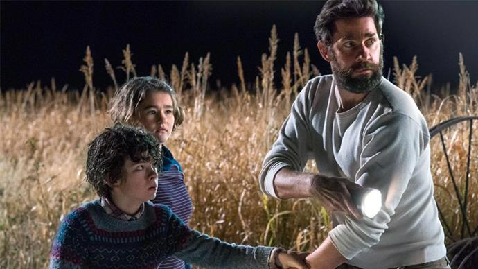 "***A Quiet Place*** <br><br> Cut off from the rest of the world, a tight-knit family lives in constant fear of making any sound that will attract terrifying alien creatures. <br><br> *Watch it [here](https://www.netflix.com/au/title/80213226#:~:text=2018M%201h%2030mHorror,will%20attract%20terrifying%20alien%20creatures.|target=""_blank""