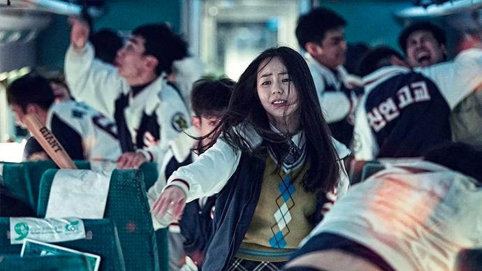 "***Train To Busan*** <br><br> As a zombie outbreak sweeps the country, a dad and his daughter take a harrowing train journey in an attempt to reach the only city that's still safe. <br><br> *Watch it [here](https://www.netflix.com/au/title/80117824|target=""_blank""