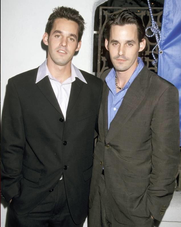 **Nicholas Brendon and Kelly Donovan**<br>  While Nicholas is known for his role as Xander in iconic '90s series *Buffy, the Vampire Slayer*, few people are aware of his twin brother, Kelly. In fact, the pair are so identical that Kelly often acted as a stand-in for many of his scenes on the show.