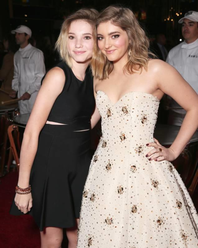 **Willow and Autumn Shields** <br> Some may recognise Willow Shields for playing another iconic sister, as Primrose Everdeen in the *Hunger Games*. However, she has a sister of her own, Autumn. The pair are both actors with Autumn appearing in films like *Beyond The Blackboard*.