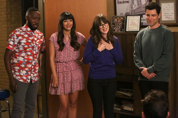 ***New Girl* (01/10/20)** <br><br> You can now binge seasons one to seven of Zooey Deschanel's hilarious sitcom featuring everyone's favourite zany loft-mates.