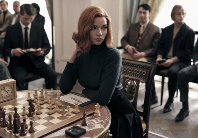 ***The Queen's Gambit* (23/10/20)** <br><br> Based on the novel by Walter Tevis, this coming-of-age story follows a young Beth Harmon (Anya Taylor-Joy) as she discovers an astonishing talent for chess while dealing with an addiction to tranquillisers. <br><br> Haunted by her personal demons and fuelled by a cocktail of narcotics and obsession, Beth transforms into an impressively skilled and glamorous outcast while determined to conquer the traditional boundaries established in the male-dominated world of competitive chess.