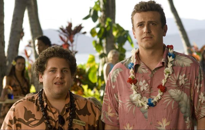 ***Forgetting Sarah Marshall* (23/10/20)** <br><br> Freshly dumped and struggling in his career, Peter Bretter (Jason Segel) goes on a Hawaiian getaway to forget about his TV star girlfriend Sarah Marshall (Kristen Bell), only to wind up at the same hotel as her and her new rocker boyfriend (Russell Brand). Luckily for him, the resort's pretty big... well, it's not, but he finds himself in good company.
