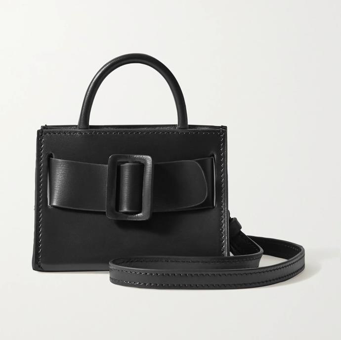 "'Bobby Charm buckled leather shoulder bag' by BOYY, $381.32 at [NET-A-PORTER](https://www.net-a-porter.com/en-au/shop/product/boyy/bobby-charm-buckled-leather-shoulder-bag/1208672?gclsrc=aw.ds&cm_mmc=Google-ProductSearch-AU--c-_-NAP_EN_AU_PLA-_-NAP+-+AU+-+GS+-+Designer+-+Class_Bags+-+Type_Shoulder+Bags%C2%A0-%C2%A0High%C2%A0-%C2%A0BT--Shoulder+Bags+-+Cross+Body-_-__aud-359472067086:pla-474600069509_APAC&gclid=CjwKCAjw2dD7BRASEiwAWCtCb5sFqy-CuFMGj5lJmuIfIcZ8_M6E9VAeQirSsHaA6T97OlLCtT5MehoCLUsQAvD_BwE&gclsrc=aw.ds|target=""_blank""|rel=""nofollow"")."
