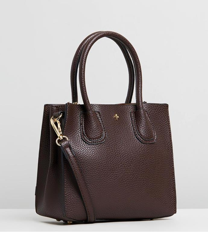 "'Hunter Mini Tote Bag' by Peta and Jain, $79.95 at [The Iconic](https://www.theiconic.com.au/hunter-mini-tote-bag-860656.html|target=""_blank""|rel=""nofollow"")."