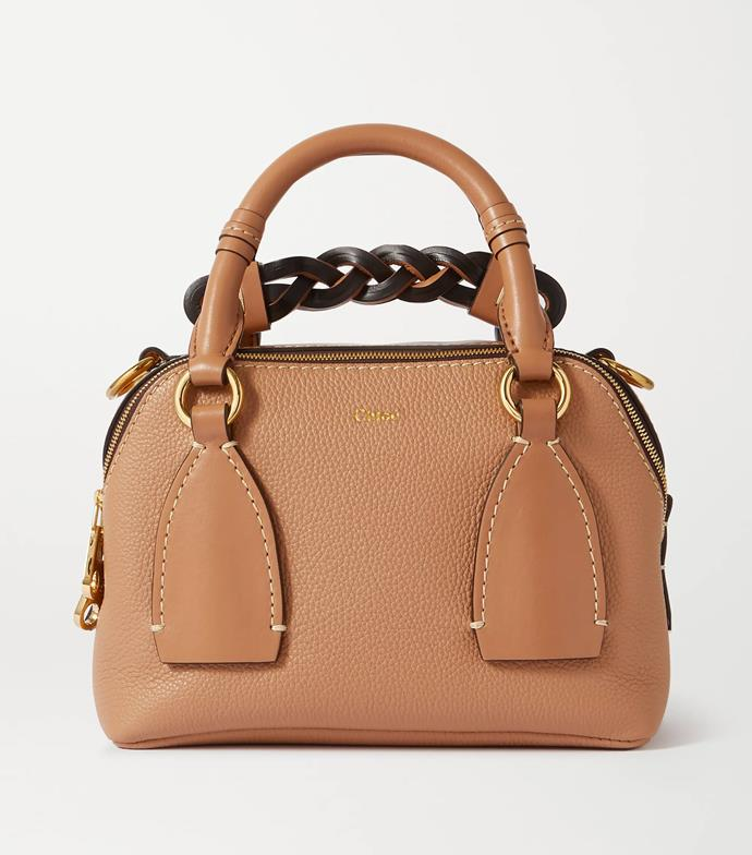 """'Daria small textured and smooth leather tote' by Chloé, $2510 at [NET-A-PORTER](https://www.net-a-porter.com/en-au/shop/product/chloe/daria-small-textured-and-smooth-leather-tote/1260587