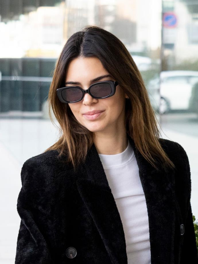 Before lockdown began, Kendall opted for caramel highlights for a very summery look. She wasn't alone as little sister Kylie also went down the same colour route.